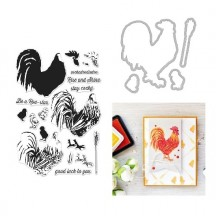 Hero Arts Color Layering Rooster Clear Stamp & Die Set
