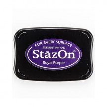 Tsukineko StazOn Solvent Ink Pad - Royal Purple