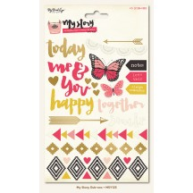 My Mind's Eye My Story Colour & Foil Rub-Ons MSY123
