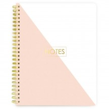 """Webster's Pages Gold Notes 8.5""""x11"""" Composition Spiral Bound Notebook SB003"""