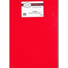 Creative Expressions Foundations Scarlet Red A4 Cardstock - 25 sheets