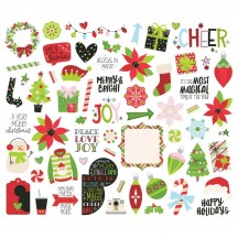 Simple Stories Say Cheese Christmas Bits & Pieces Die-Cut Cardstock Embellishments 11515