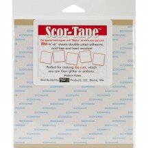"Scor-Pal Scor-Tape 6""x6"" Double Sided Adhesive Sheets"
