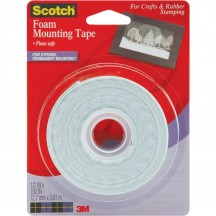 3M Scotch Craft Foam Mounting Tape 150x0.5in 4013