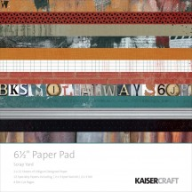 "Kaisercraft Scrap Yard 6.5""x6.5"" Specialty Paper Pad PP969 40 Sheets"