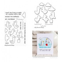 My Favorite Things Seaside Seagulls Clear Stamps & Die Set