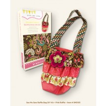 My Mind's Eye See Me Sew  Designer Fabric Bag DIY Kit - Pink Ruffle