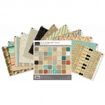 """Couture Creations 12""""x12"""" Sew Jo Paper Pad 48 double-sided sheets"""