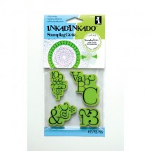 Inkadinkado Stamping Gear Typographic Rubber Cling Stamps - 65-32008