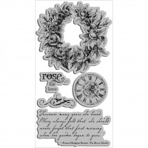 Graphic 45 Secret Garden 2 Rubber Cling Stamps by Hampton Art IC0219