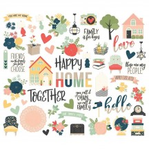 Simple Stories So Happy Together Ephemera Bits & Pieces Die-Cut Cardstock Embellishments 11715