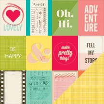 """American Crafts Shimelle Goodall Double-sided 12""""x12"""" Cardstock 368136"""