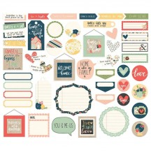 Simple Stories So Happy Together Journal Bits & Pieces Die-Cut Cardstock Embellishments 11716