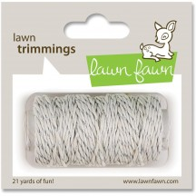 Lawn Fawn Trimmings - Silver Sparkle Hemp Cord - 21 yds / 19.2m LF526