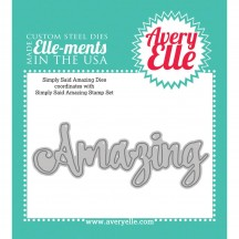 Avery Elle Simply Said Amazing Elle-ments Universal Steel Cutting Dies