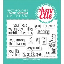 Avery Elle Simply Said Love Clear Stamps