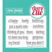 Avery Elle Simply Said Hello Clear Stamps