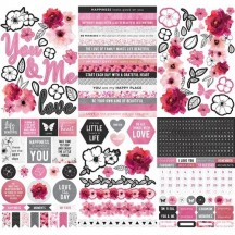 "Kaisercraft Magenta 6""X8"" Sticker Book SK811"