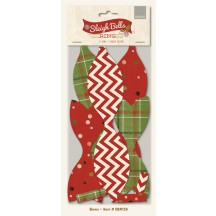 My Mind's Eye Sleigh Bells Ring Christmas Cardstock Bows SBR126