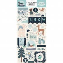 Carta Bella Snow Much Fun Self Adhesive Chipboard Accents Stickers SM108021