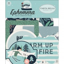 Carta Bella Snow Much Fun Ephemera Die Cut Cardstock Pieces SM108024