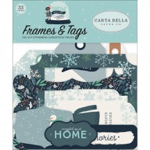 Carta Bella Snow Much Fun Frames & Tags Ephemera Die Cut Cardstock Pieces SM108025