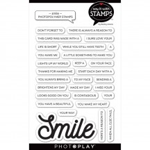 PhotoPlay Say It with Stamps Smile Clear Stamp & Die Set