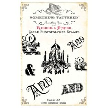 Something Tattered Clear Stamps set - And Ampersand