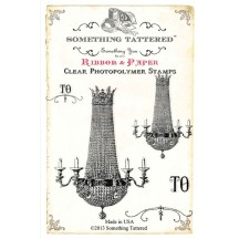 Something Tattered Clear Stamps set - Crystal Chandelier