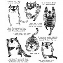 Tim Holtz Snarky Cat Cling Mount Sets Collection from Stampers Anonymous CMS392
