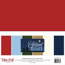 "Echo Park Silent Night Christmas 12""x12"" Solids Paper Kit SN222015"