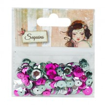 Dovecraft Santoro Willow Mixed Sequins SNSQ001 - green, pink, silver