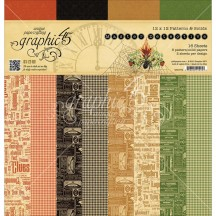 """Graphic 45 Master Detective Patterns & Solids 12""""x12"""" Paper Pad 4501572"""