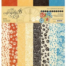 """Graphic 45 Well Groomed Patterns & Solids 12""""x12"""" Paper Pad 4502267"""