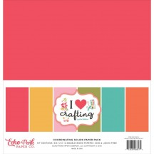 "Echo Park I Heart Crafting 12""x12"" Solids Paper Kit HC169015"