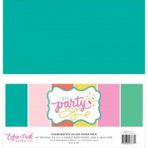 "Echo Park Let's Party Birthday 12""x12"" Solids Paper Kit LP170015"
