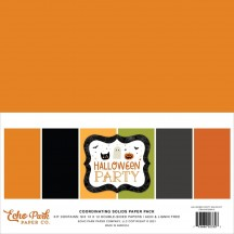 """Echo Park Halloween Party 12""""x12"""" Solids Paper Kit HPA250015"""