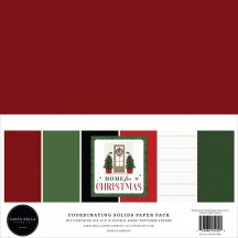 """Carta Bella Home for Christmas 12""""x12"""" Solids Paper Kit HFC139015"""