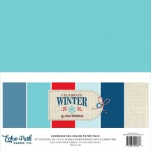 "Echo Park Celebrate Winter 12""x12"" Solids Paper Kit CW162015"