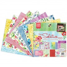 """DCWV Solstice 12""""x12"""" Designer Stack with Glitter & Gloss 48 Sheets"""