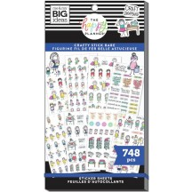 Me & My Big Ideas The Happy Planner Stick Girls Craft Classic Value Pack Stickers SP1H30-004