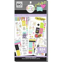 Me & My Big Ideas The Happy Planner Happy Goals Wellness Warrior Classic Value Pack Stickers SP1H30-061
