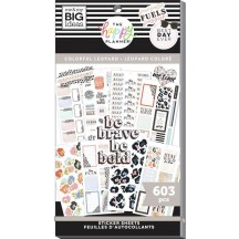 Me & My Big Ideas The Happy Planner Colorful Leopard Classic Value Pack Stickers SP1H30-120