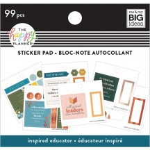 Me & My Big Ideas The Happy Planner Tiny Sticker Pad Inspired Educator SP2H20-001