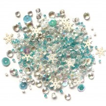 Buttons Galore & More Sparkletz Snow Crystal Embellishment Pack SPK-133