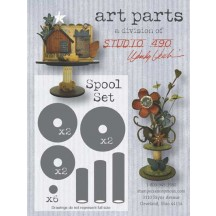 Studio 490 by Wendy Vecchi Art Parts from Stampers Anonymous - Spool Set