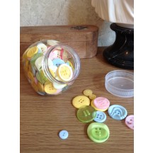 Craftie-Charlie Jar of Buttons - Spring mix - pastels