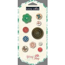 Teresa Collins Decorative Buttons - Spring Fling SF3125