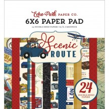 "Echo Park Scenic Route 6""x6"" Double-Sided Paper Pad SR212023"