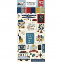 Echo Park Scenic Route Self Adhesive Chipboard Accents Stickers SR212021